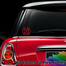 Fireman Firefighter Fire Rescue Decal Car Gift Sticker *60 COLORS*