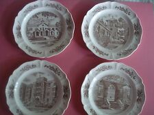Wedgwood Vintage Collector Plates Church Series Good Counsel Scalloped Set 4