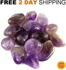 1LB AMETHYST Tumbled MIX CRYSTAL Polished Stones Purple Lot BRAZIL Bulk LARGE