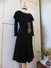 BEAUTIFUL RARE IKA STRETCH COTTON EDGY WINTER DESIGNER DRESS-18-VERY FLATTERING