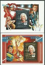 MARILYN MONROE - 'HOLLYWOOD MOVIE STAR' Gold & Silver Embossed MS MNH [A5881]
