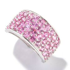 Sterling Silver 2.39ctw Pink Spinel Cluster Ring, Size 7