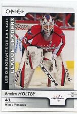 17/18 O-PEE-CHEE OPC LEAGUE LEADERS #592 BRADEN HOLTBY CAPITALS *39205