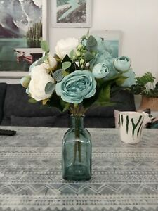 Rectangle Grafin Glass Vase Clear Flowers Container Home Tablecut Decoration