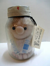 Vtg Nurse N Glass Doll by Diane Gifts Unique Handcrafted by Renee in a Jar 1980s