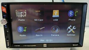 DUAL XVM279BT 7''LED Touch Bluetooth 2-DIN Digital Car Radio USB Tested Fully