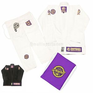 Shoyoroll Batch #83 Mamba Competitor Bjj Gi - jiu jitsu uniform white, black