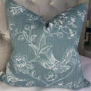 "Cushion Cover 18"" John Lewis & Partners Fabric Nightingales Animal Flowers Print"
