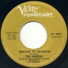 "TIM HARDIN Reason To Believe/Smugglin' Man 7"" 1968 Verve Forecast VG+"