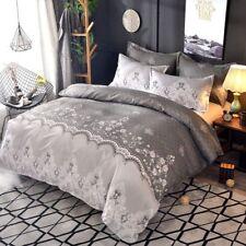 2/3Pcs Luxury Lace Classic Flower Duvet Cover Set Bedding Set Pillowcase US/EU