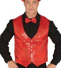 Gilet rosso uomo con pailletes lustrini