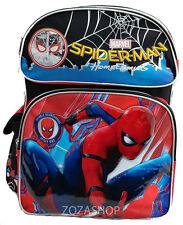 """Spider-Man Backpack 16"""" Large Licensed Super Hero Backpack Boy Bag"""