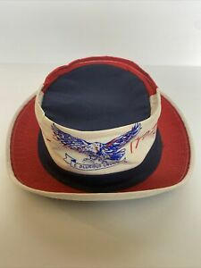 United Hatters Cap Millinery Bicentennial 1976 Hat USA Union Size 7 3/8 Eagle
