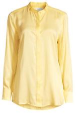 Equipment Femme Oranne Women's Blouse M Limon Sorbet Silk Blend Button Top $250