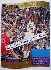 1997-98 UD Collector's Choice KARL MALONE Memorable Moments RETAIL Diecut JAZZ 7