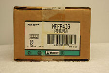 Panduit MFFP4IG MOD-COM Snap-In Faceplate Box of 10 *SEALED*