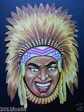 maschera maschere di carnevale anni 60 capo indiano rare carnival masks 60 years