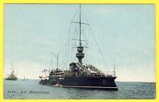 cpa NAVIRES de GUERRE Marine Militaire le Cuirassé BOUVINES Bateau Mer Guerre