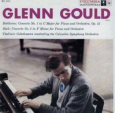 GLENN GOULD : BEETHOVEN - CONCERTO NO. 1, BACH - COCERTO NO. 5 / CD