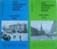 OLD ORDNANCE SURVEY DETAILED MAPS LEITH WALK EDINBURGH 1894 & 1912 Godfrey Edit