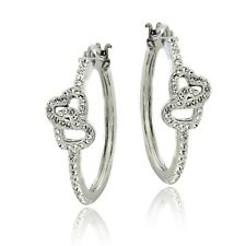 Crystal Double Heart Earrings with Swarovski Elements
