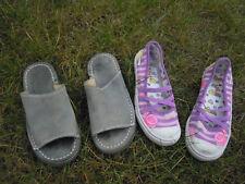 Lot de 3 paires 2 basket 1 cuir Rip Curl 1 toile + sandales en cuir Pointure 29