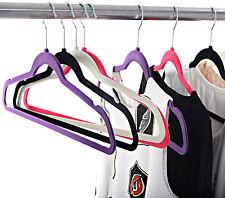 Non-Slip Floked / Velvet Coat Hangers Clothes Garment Suit Shirt Trouser Hanger