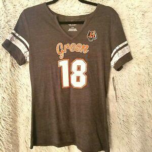 NFL Cincinnati Bengals Football Green #18 NEW Women's shirt 115