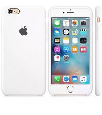 NEW - Genuine Silicone Case for Apple iPhone 6s in White
