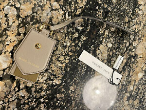 NWT Marc Jacobs Stone Leather Gold Hardware Hangtag Purse Charm