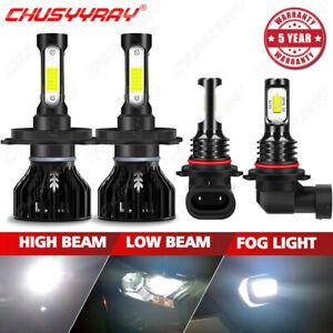 For Scion XB 2004 2005 2006 4pcs LED Headlight High-Low Beam+Fog Light Bulbs Kit
