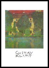 Gustav Klimt Schlosskammer am Attersee Poster Bild Kunstdruck und Rahmen 70x50cm