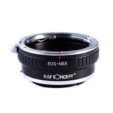 Concepto de canon eos ef K&F Lente Sony Alpha NEX E-Mount Adaptador De Cámara EOS-NEX