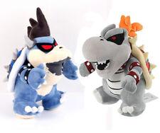 Super Mario Bros 12'' Dark Bowser & 10'' Gray King Bowser Koopa Plush Doll Toy