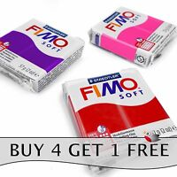 FIMO Soft Polymer Oven Modelling Clay - 57g - Set of 3 - Red, Plum & Raspberry
