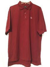 Hershey Golf Collection Mens Red Country Club DriWay Polo Shirt Size Large  MG14