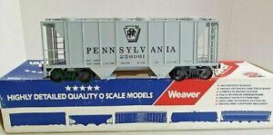 ✅WEAVER 2-RAIL PENNSYLVANIA PS-2 COVERED HOPPER CAR O SCALE FREIGHT PRR RAILROAD