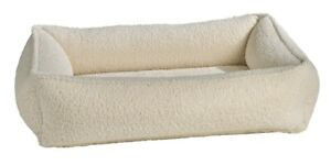 Bowsers Luxury Pet Cushioned Urban Lounger Faux Sheepskin Fabric