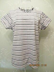Women's striped short sleeved dri-fit sports top Nike XL 16-18