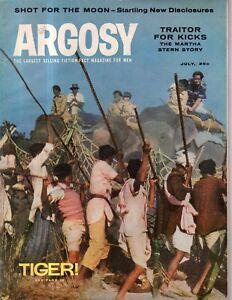 1958 Argosy July - Harry Houdini; Gangster Lucky Luciano; Civil War; Car Camping