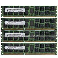 Micron 32GB 4x8GB 2Rx4 PC3-12800R DDR3 1600Mhz 240Pin ECC REG Server Memory RAM