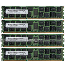 Micron 32GB 4x8GB 2Rx4 PC3-12800R DDR3 1600Mhz 240Pin ECC REG Server Memory RAM