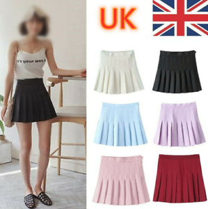 Girls School Uniform Skater Skirt Kids High Waist Pleated Skirt Tennis for Women