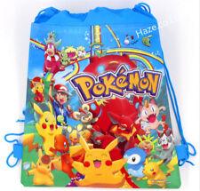 Cute Pokemon Go children Non-woven drawstring bag Kids Gift Blue Useful Hot