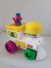 Barney The Dinosaur Train Push and Go Vintage 90s Toy Engine Kid Powered 1994