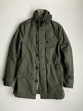 G-STAR RAW GARBER PADDED TRENCH COAT DARK SHAMROCK MENS SIZE XSMALL NWOT