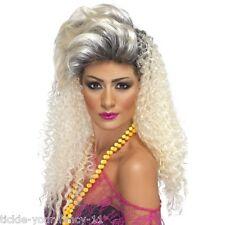 Womens 80's Bottle Blonde Wig Glamour Model Hen Disco Fun Fancy Dress Punk Rock
