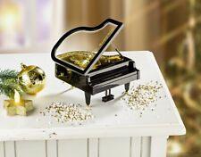 Sehr schöne mechanische Spieluhr schwarz gold, Piano Klavier Musikbox Spieldose