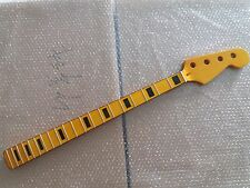 1pcYellow Maple 20 Fret JAZZ Bass Neck For Electric Bass Guitar Parts Replacment