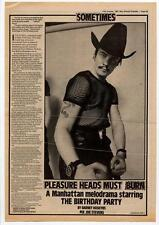 Birthday Party The Nick Cave Interview NME Cutting 1981